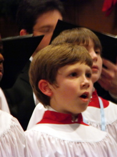 Chorister in vestments