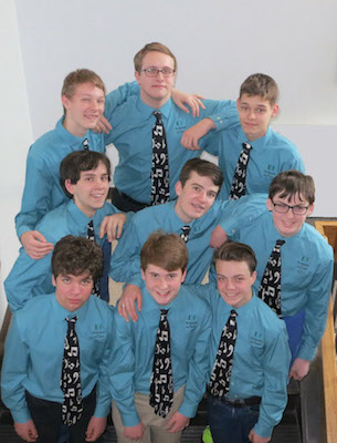 Young Men's Ensemble, March 2103